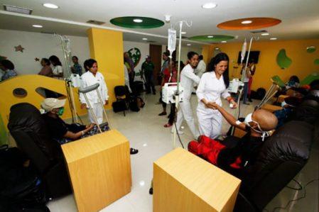 Sala de quimioterapias para niños enfermos de cáncer FOTO: WEB